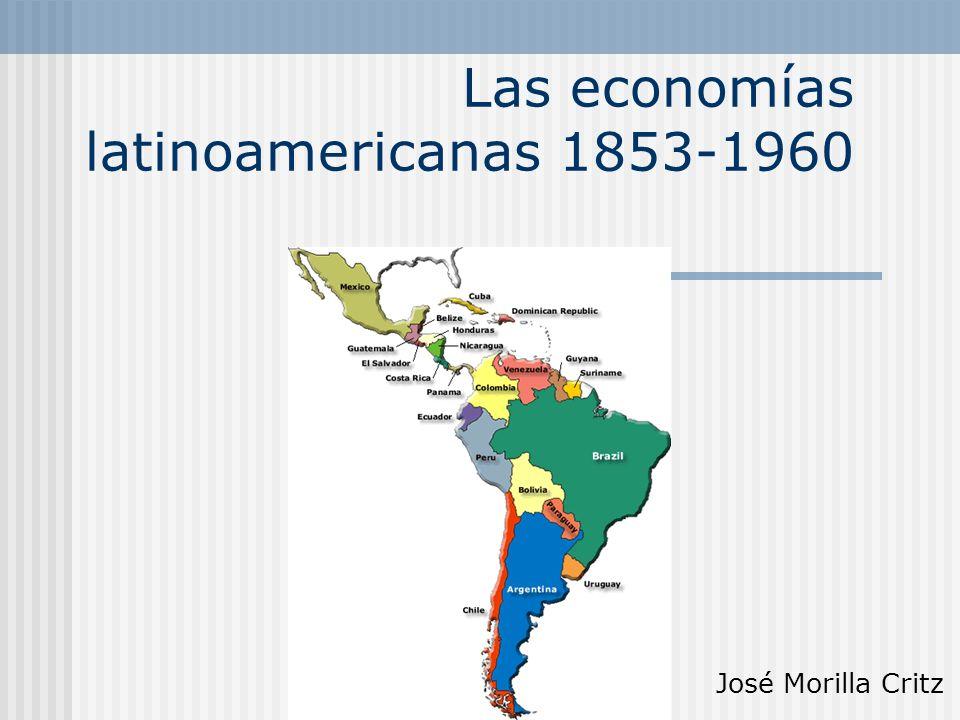 Etapas Hasta 1914: Crecimiento como economías exportadoras 1914-1929: Coyuntura favorable para la diversificación productiva 1929-1960: Industrializaciones sustitutivas de importaciones (ISI)