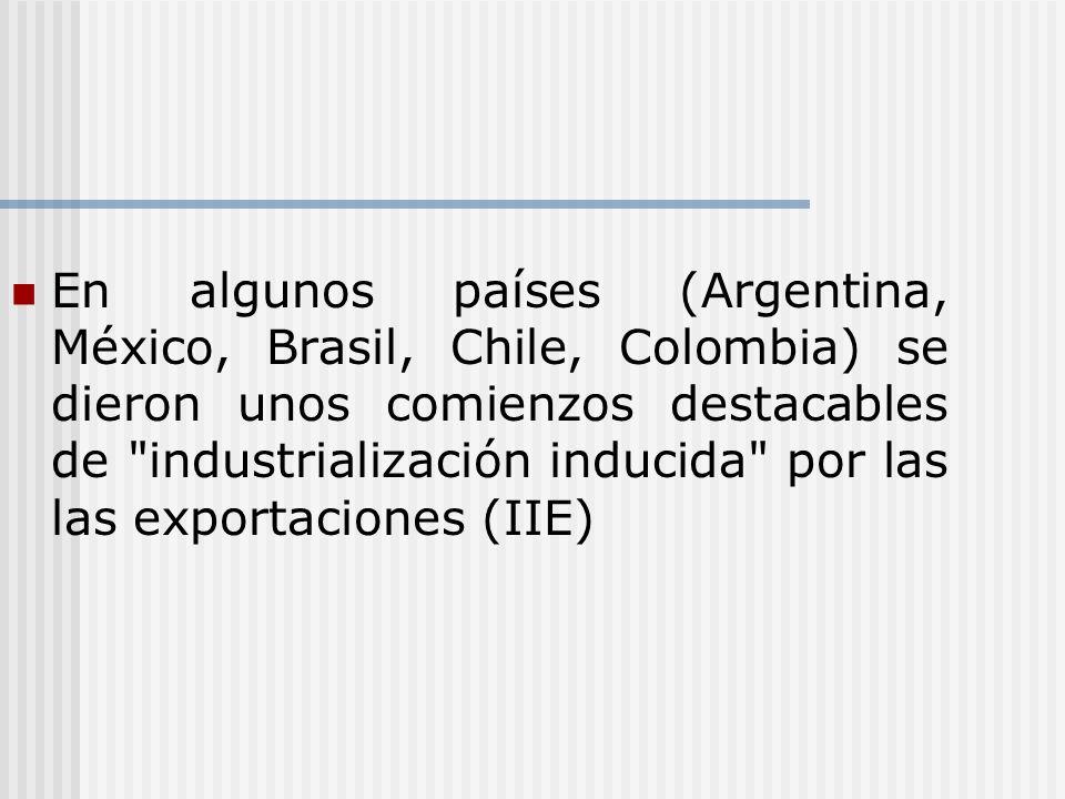 En algunos países (Argentina, México, Brasil, Chile, Colombia) se dieron unos comienzos destacables de
