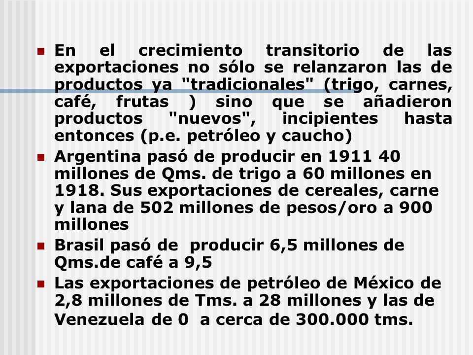 En el crecimiento transitorio de las exportaciones no sólo se relanzaron las de productos ya
