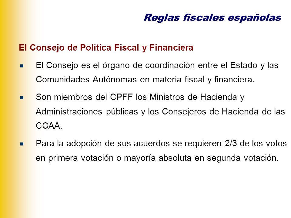 Las reglas fiscales en el ámbito autonómico Reglas cuantitativas o numéricas.