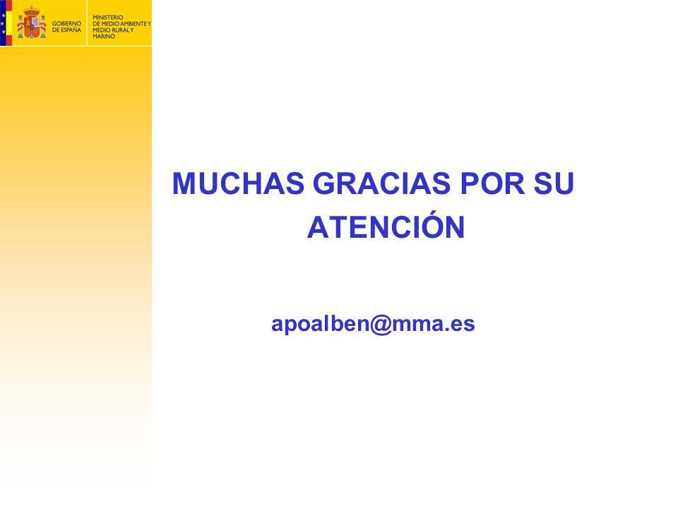 MUCHAS GRACIAS POR SU ATENCIÓN apoalben@mma.es
