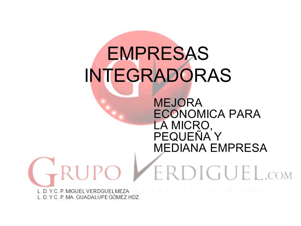 1 EMPRESAS INTEGRADORAS MEJORA ECONOMICA PARA LA MICRO, PEQUEÑA Y MEDIANA EMPRESA L.