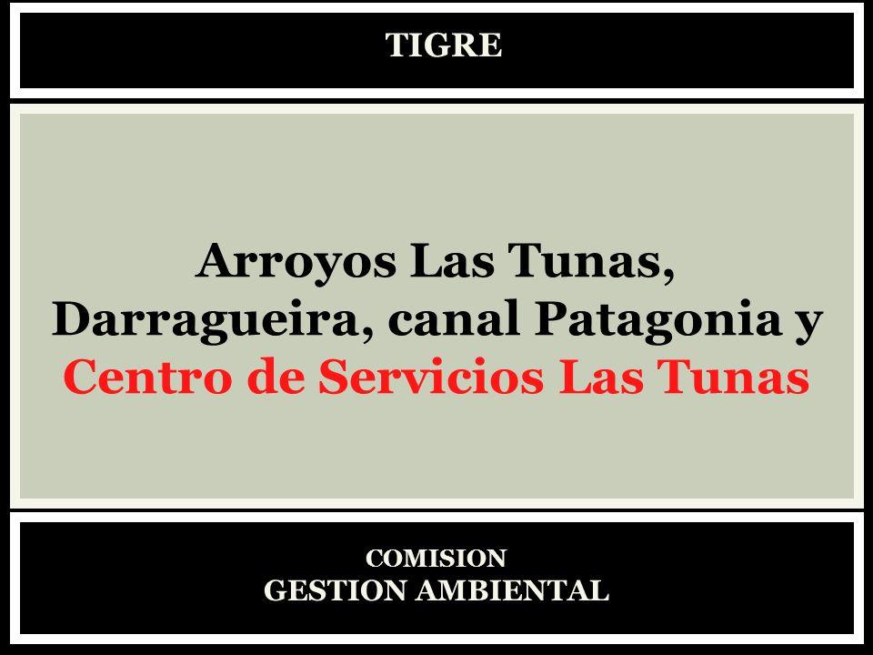 TIGRE COMISION GESTION AMBIENTAL Arroyos Las Tunas, Darragueira, canal Patagonia y Centro de Servicios Las Tunas