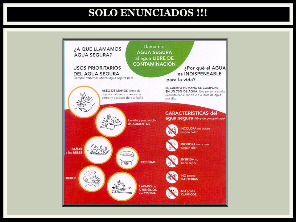 SOLO ENUNCIADOS !!!