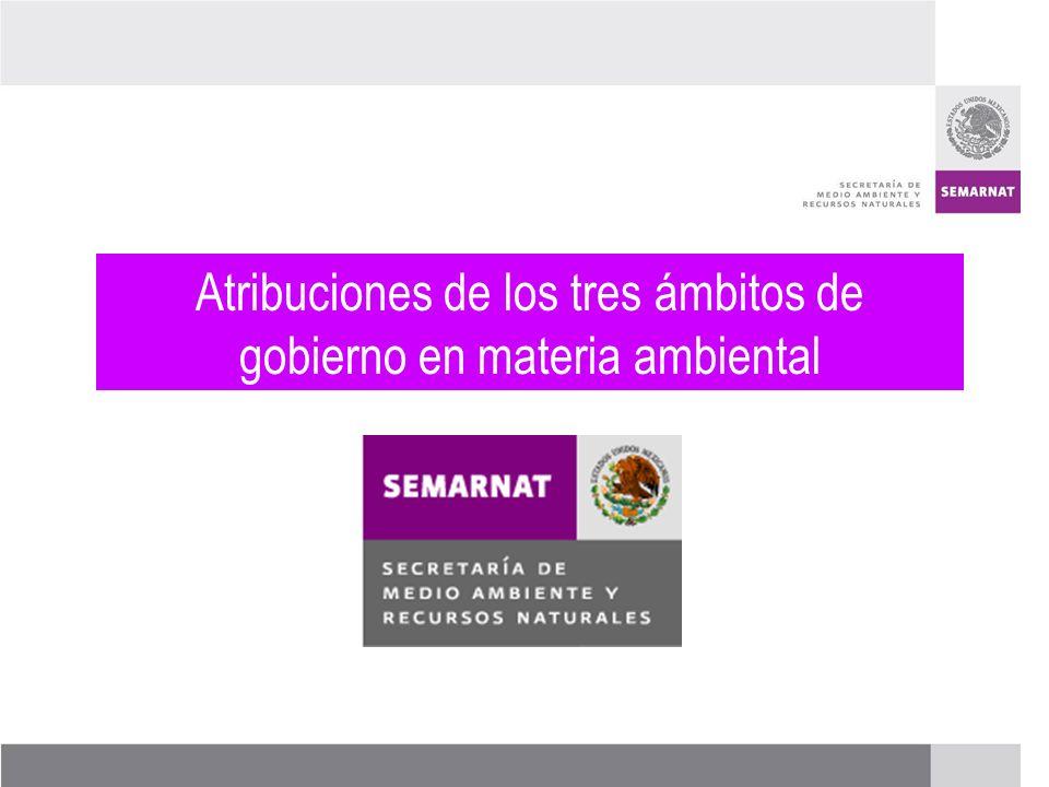 PROCESO DE RENOVACIÓN DE LOS CCDS (2005 – 2007) Atribuciones de los tres ámbitos de gobierno en materia ambiental