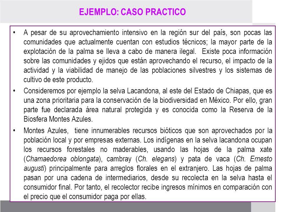 PROCESO DE RENOVACIÓN DE LOS CCDS (2005 – 2007) EJEMPLO: CASO PRACTICO A pesar de su aprovechamiento intensivo en la región sur del país, son pocas la