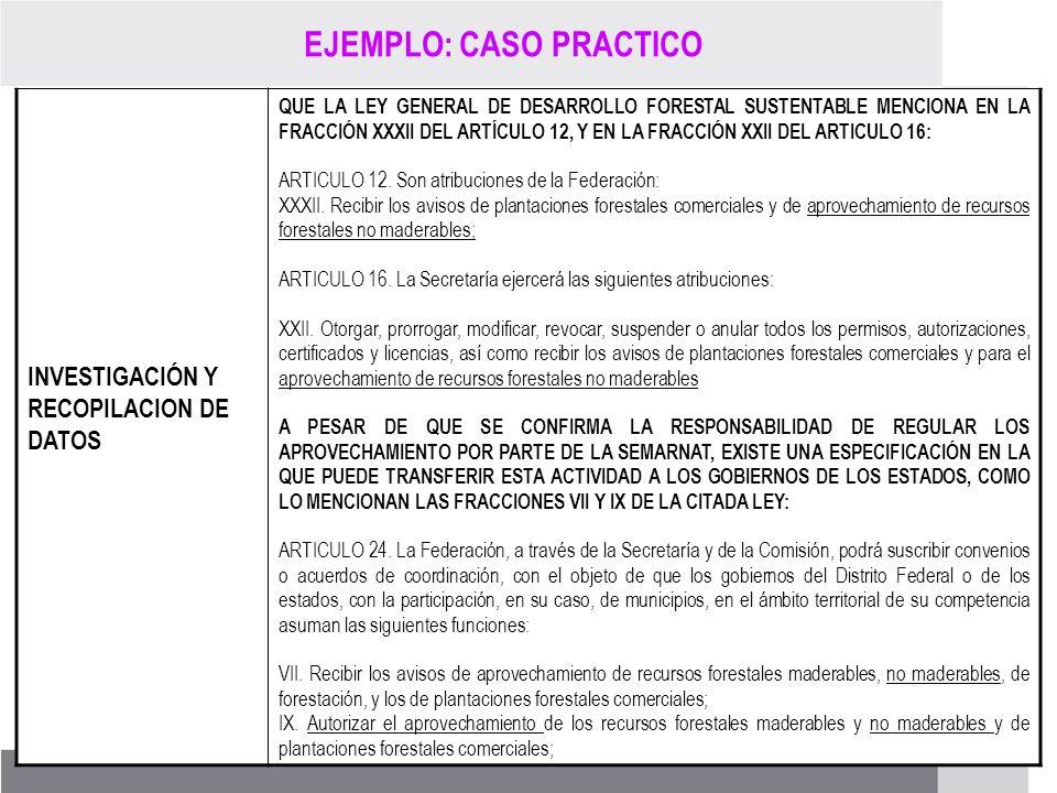PROCESO DE RENOVACIÓN DE LOS CCDS (2005 – 2007) INVESTIGACIÓN Y RECOPILACION DE DATOS QUE LA LEY GENERAL DE DESARROLLO FORESTAL SUSTENTABLE MENCIONA E
