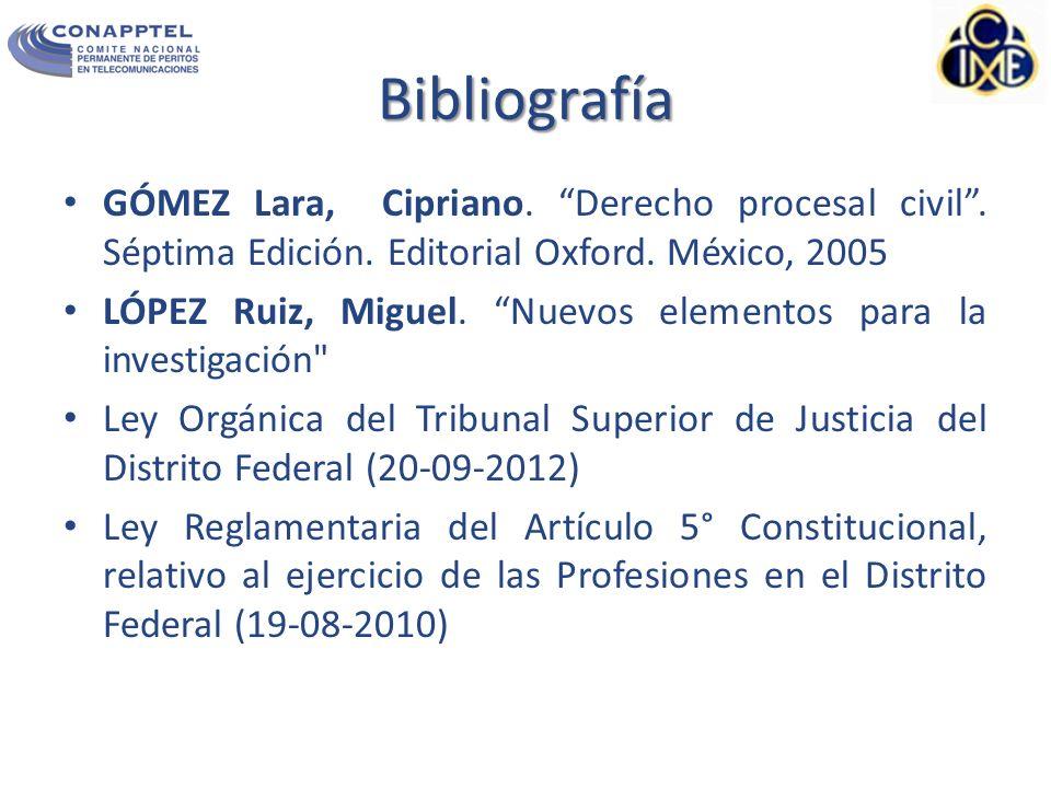 Bibliografía GÓMEZ Lara, Cipriano.Derecho procesal civil.
