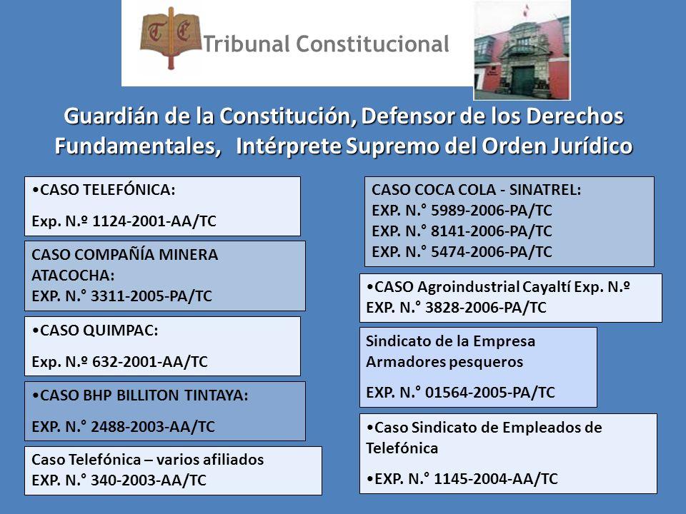 Guardián de la Constitución, Defensor de los Derechos Fundamentales, Intérprete Supremo del Orden Jurídico Tribunal Constitucional CASO TELEFÓNICA: Ex
