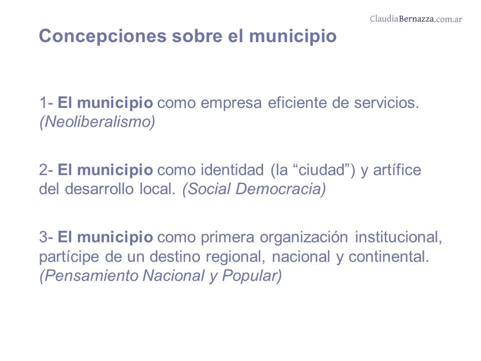 1- El municipio como empresa eficiente de servicios.