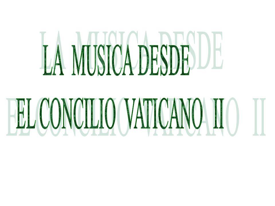 La Constitución SACROSANCTUM CONCILIUM Aprobada: 4 de Diciembre de 1963 por Pablo VI La Constitución SACROSANCTUM CONCILIUM Aprobada: 4 de Diciembre de 1963 por Pablo VI Concilio Ecuménico : 25 de Enero de 1959 Concilio Vaticano II: 1962-1965 2150 Obispos Concilio Ecuménico : 25 de Enero de 1959 Concilio Vaticano II: 1962-1965 2150 Obispos