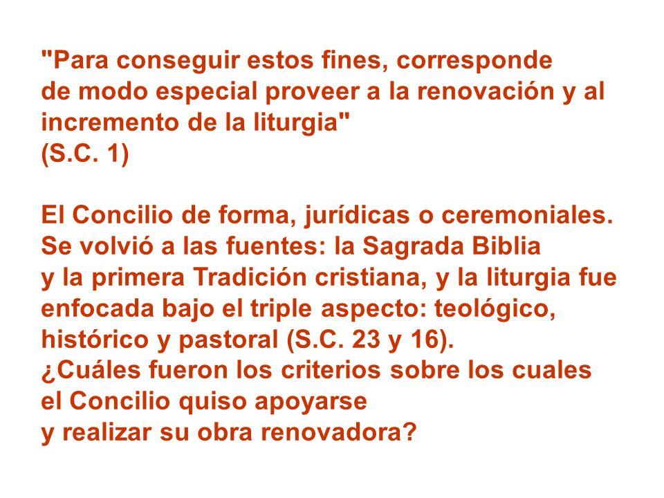 El segundo criterio renovador, no menos importante, es el de la formación de clérigos y fieles (S.C.