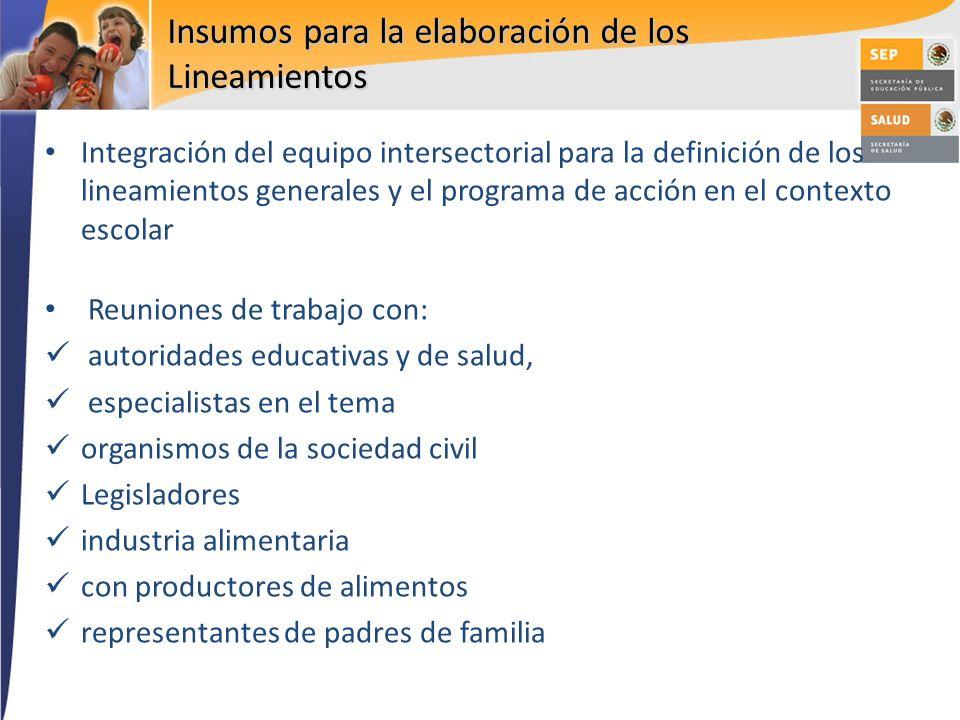 Integración del equipo intersectorial para la definición de los lineamientos generales y el programa de acción en el contexto escolar Reuniones de tra
