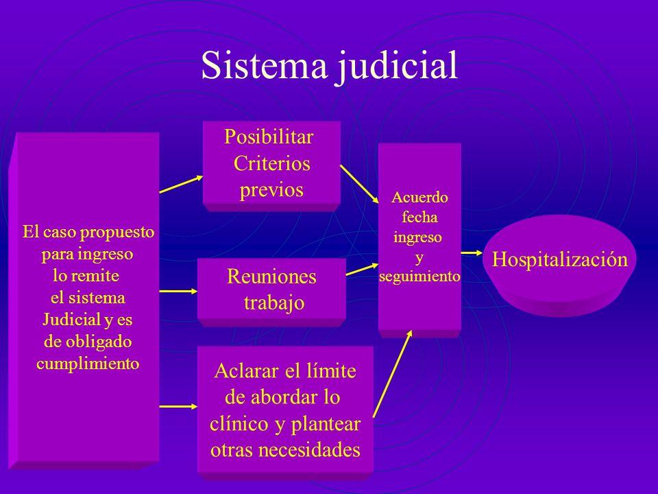 Consultas externas Hospitalización El caso propuesto para ingreso debe contar con evaluación clínica y psicopatológica y fundamentar de forma razonada