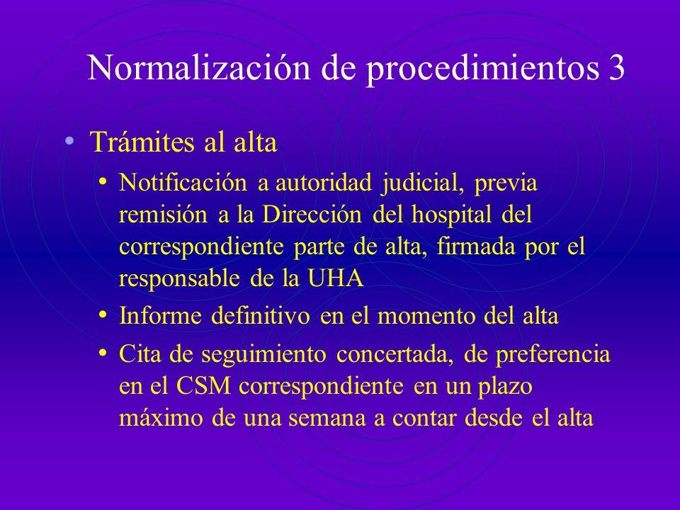 Normalización de procedimientos 2 Actuaciones durante el ingreso HªCª completa y solicitud de exploraciones físicas en el día hábil inmediatamente pos