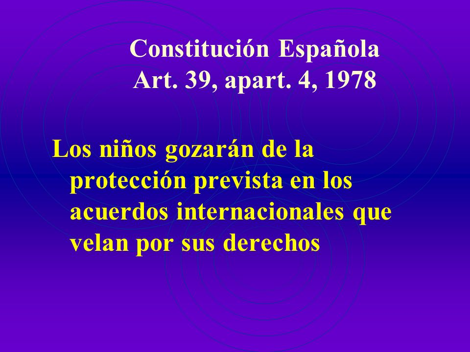 Constitución Española Art. 49, 1978 Los poderes públicos realizarán una política de prevención, tratamiento y rehabilitación e integración de los dism