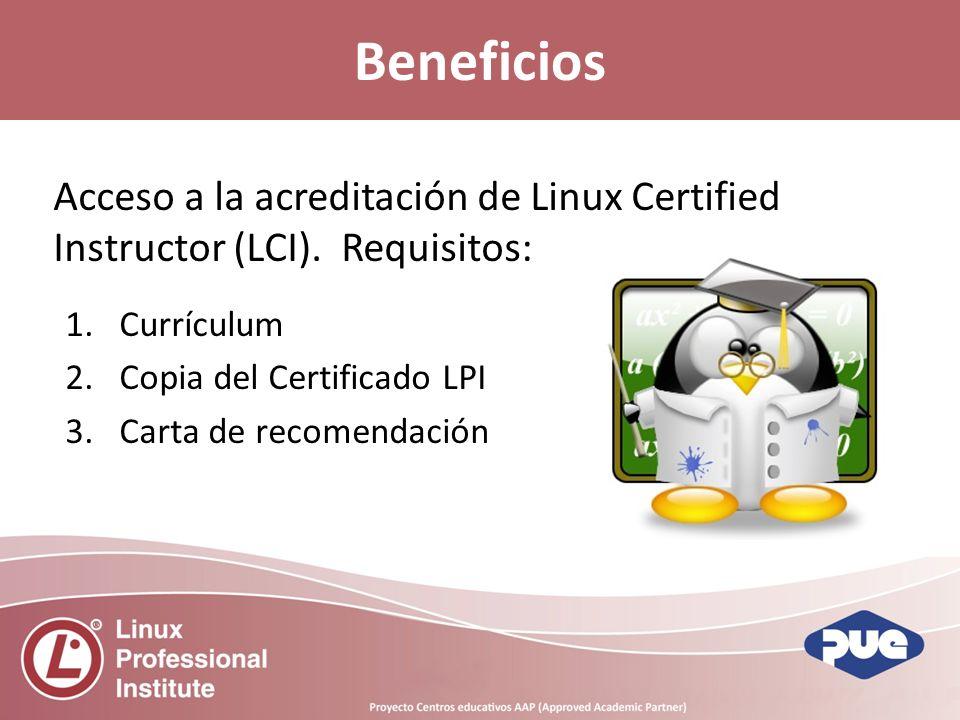 Acceso a la acreditación de Linux Certified Instructor (LCI).