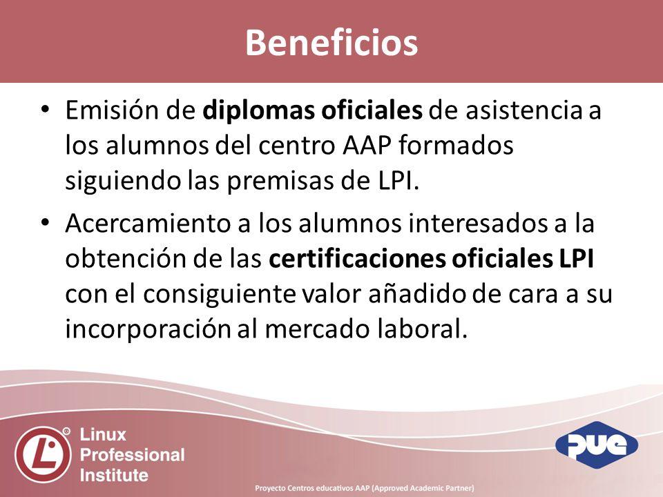 Emisión de diplomas oficiales de asistencia a los alumnos del centro AAP formados siguiendo las premisas de LPI.