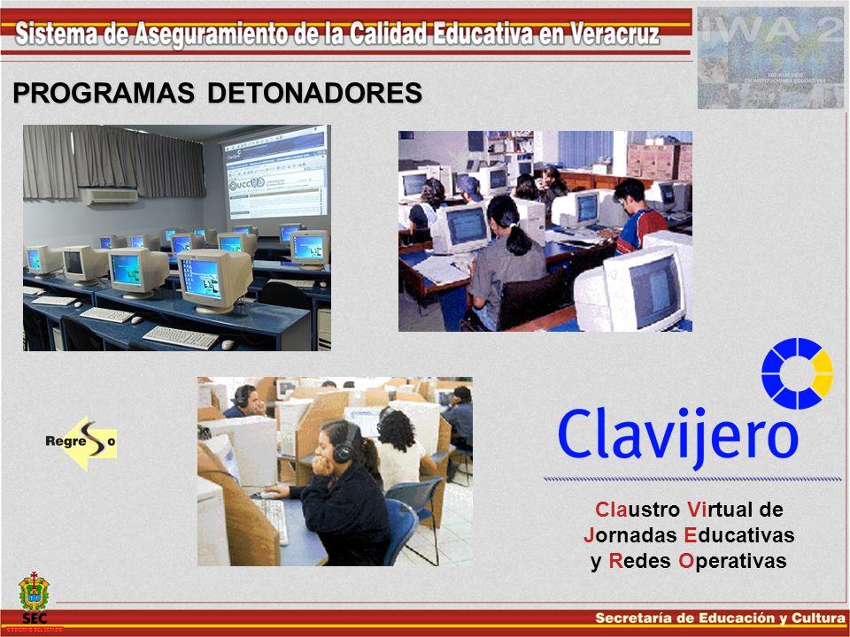 PROGRAMAS DETONADORES Claustro Virtual de Jornadas Educativas y Redes Operativas