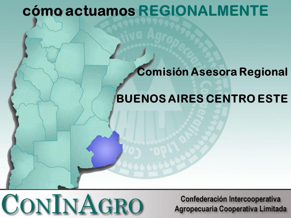cómo actuamos REGIONALMENTE Comisión Asesora Regional BUENOS AIRES CENTRO ESTE