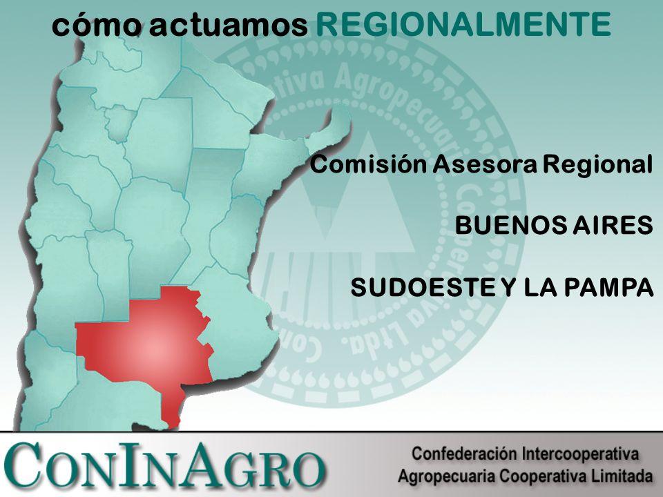 cómo actuamos REGIONALMENTE Comisión Asesora Regional BUENOS AIRES SUDOESTE Y LA PAMPA