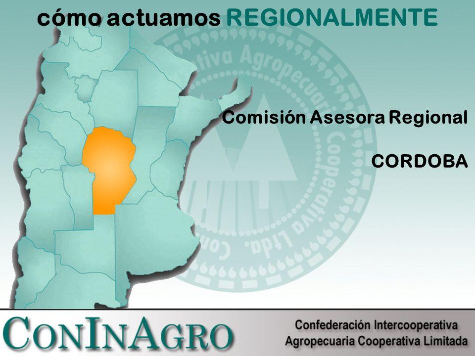 cómo actuamos REGIONALMENTE Comisión Asesora Regional CORDOBA