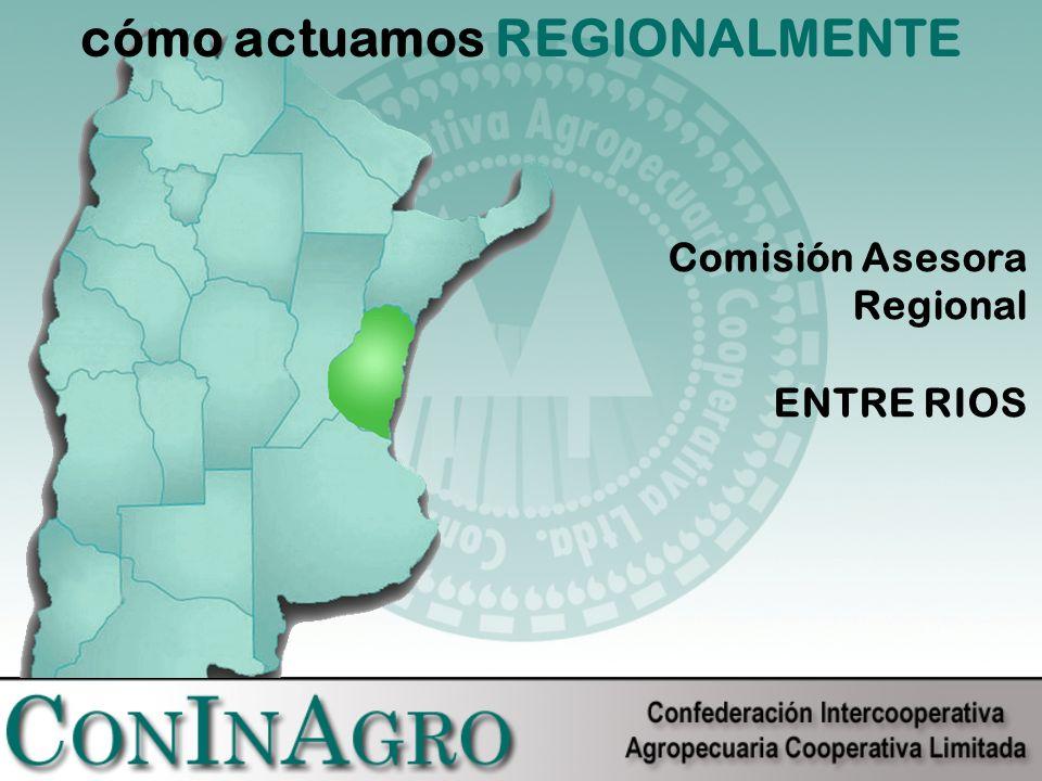 cómo actuamos REGIONALMENTE Comisión Asesora Regional ENTRE RIOS