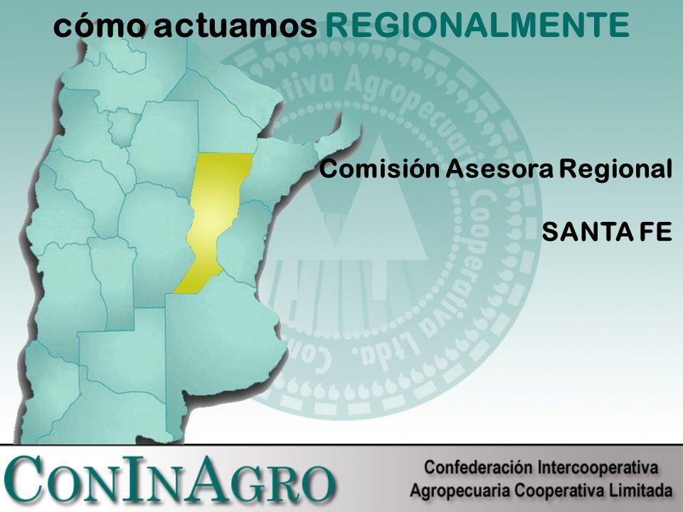 cómo actuamos REGIONALMENTE Comisión Asesora Regional SANTA FE