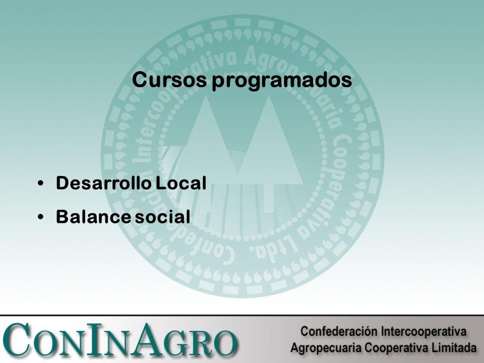 Cursos programados Desarrollo Local Balance social