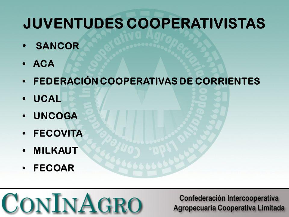JUVENTUDES COOPERATIVISTAS SANCOR ACA FEDERACIÓN COOPERATIVAS DE CORRIENTES UCAL UNCOGA FECOVITA MILKAUT FECOAR