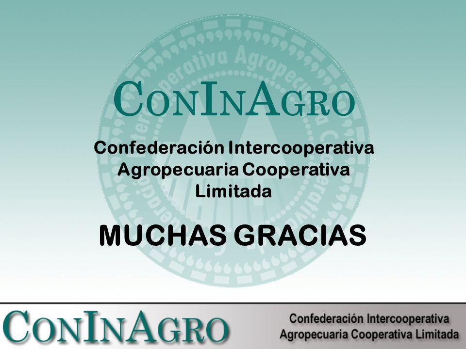 MUCHAS GRACIAS C ON I N A GRO Confederación Intercooperativa Agropecuaria Cooperativa Limitada