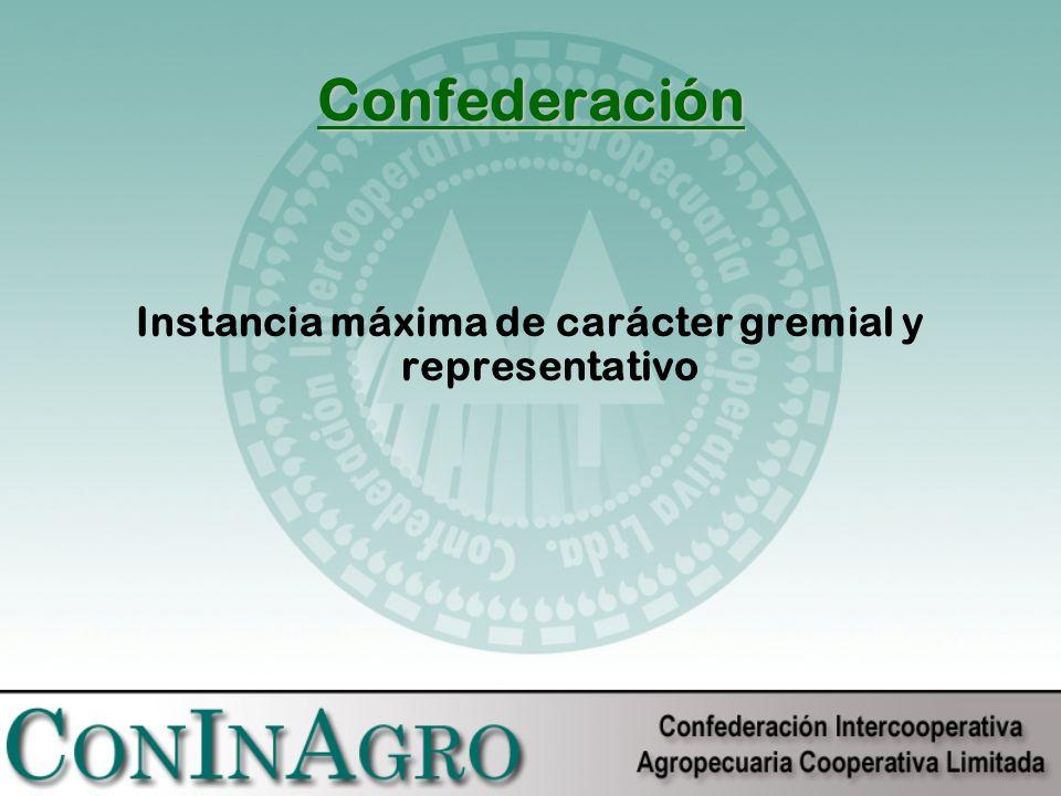 Instancia máxima de carácter gremial y representativo Confederación