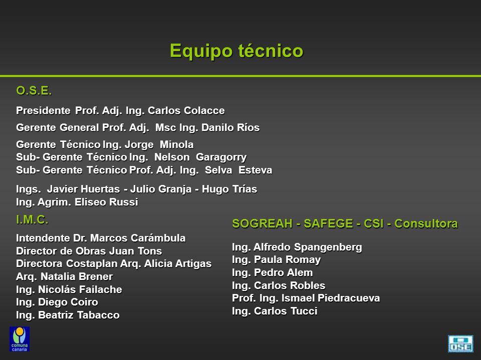 Equipo técnico SOGREAH - SAFEGE - CSI - Consultora Ing.