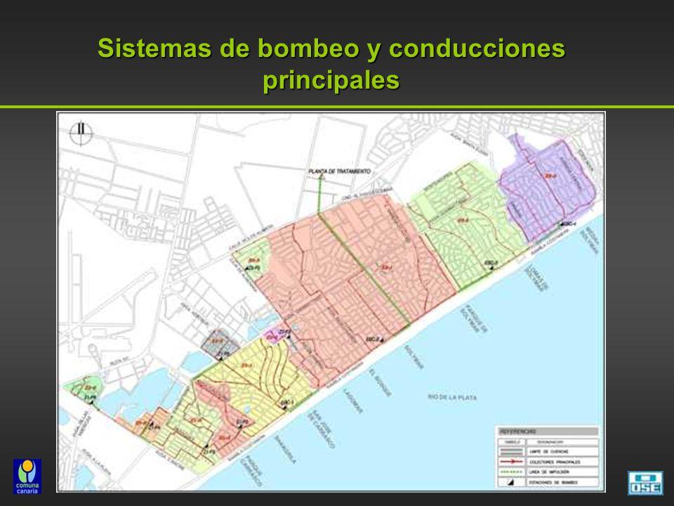 Sistemas de bombeo y conducciones principales