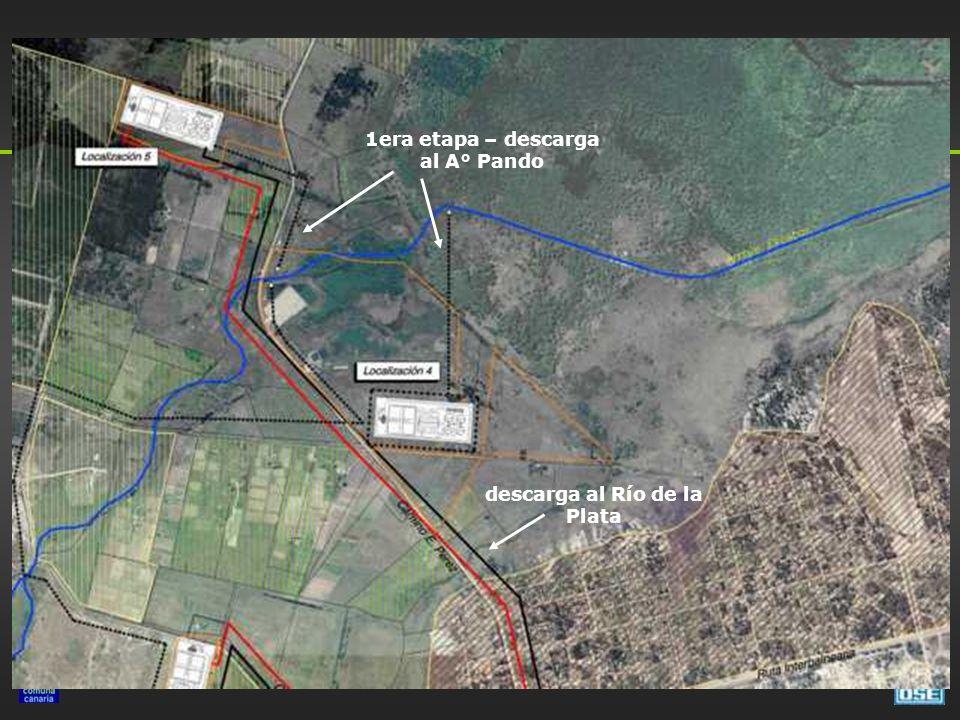 1era etapa – descarga al A° Pando descarga al Río de la Plata