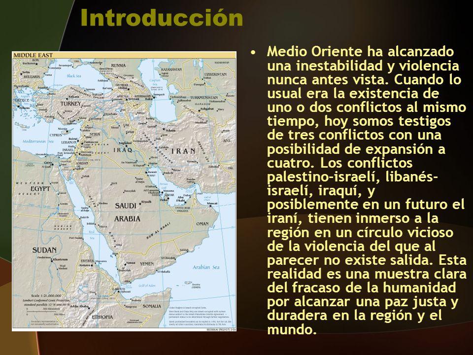 Introducción Medio Oriente ha alcanzado una inestabilidad y violencia nunca antes vista.
