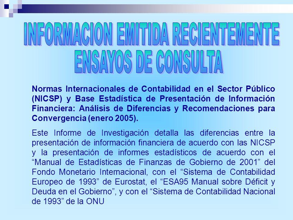 Normas Internacionales de Contabilidad en el Sector Público (NICSP) y Base Estadística de Presentación de Información Financiera: Análisis de Diferenc