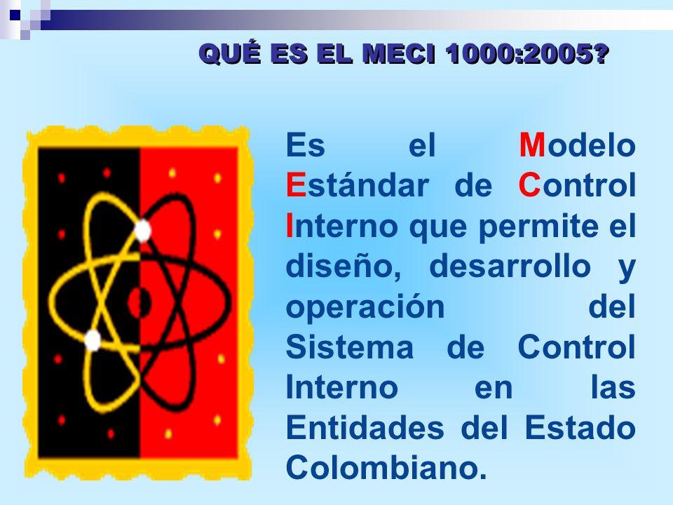 Es el Modelo Estándar de Control Interno que permite el diseño, desarrollo y operación del Sistema de Control Interno en las Entidades del Estado Colo