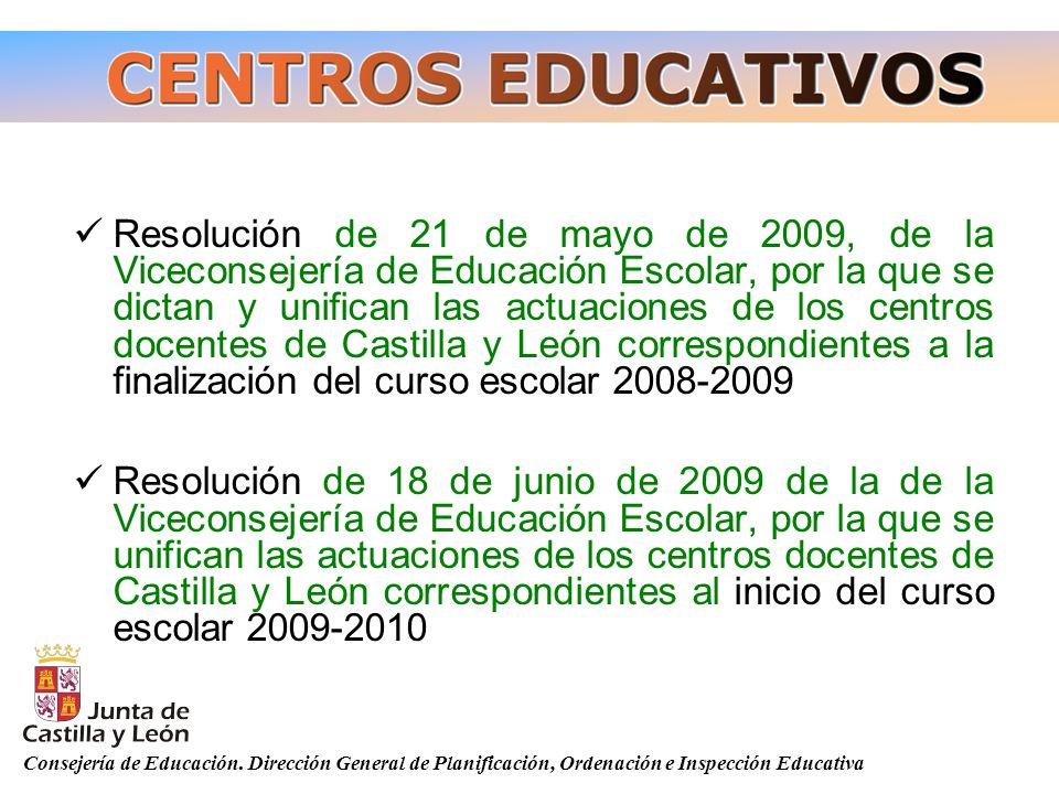 Resolución de 21 de mayo de 2009, de la Viceconsejería de Educación Escolar, por la que se dictan y unifican las actuaciones de los centros docentes d