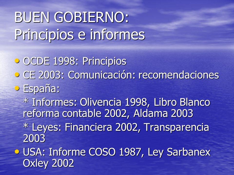 Gobierno de la empresa Gobierno de la empresa: interrelaciones entre la dirección, el Consejo, los accionistas y otros grupos de interés social.