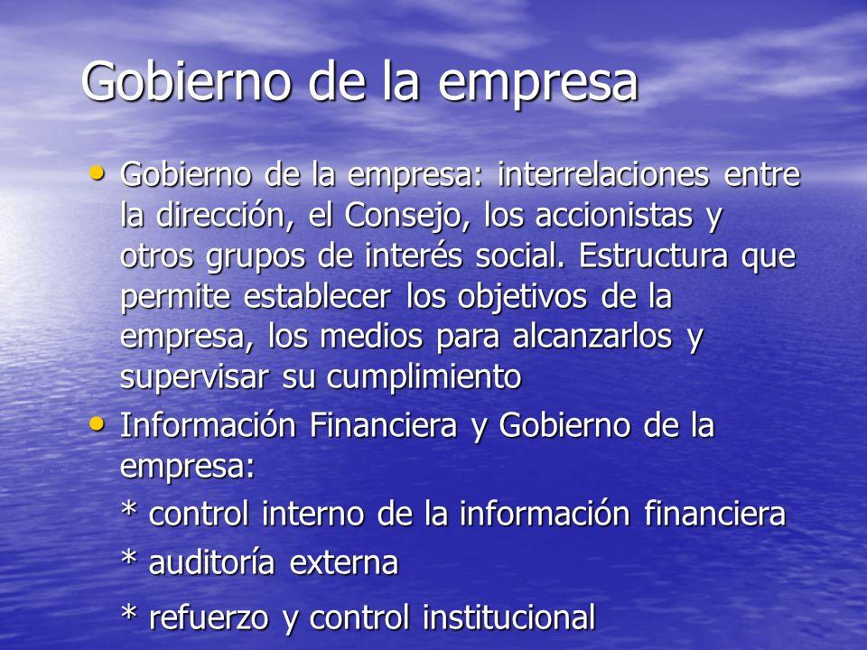 Control interno Plan de organización, métodos coordinados y medidas adoptadas para proteger los activos, identificar riesgos financieros y operativos, verificar la exactitud y fiabilidad de los datos contables, promover la eficiencia de la operaciones y estimular la adhesión a las políticas de la dirección.