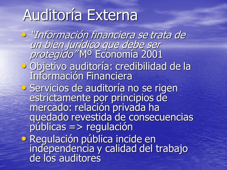 Independencia de los auditores Los auditores deberán ser y parecer independientes.