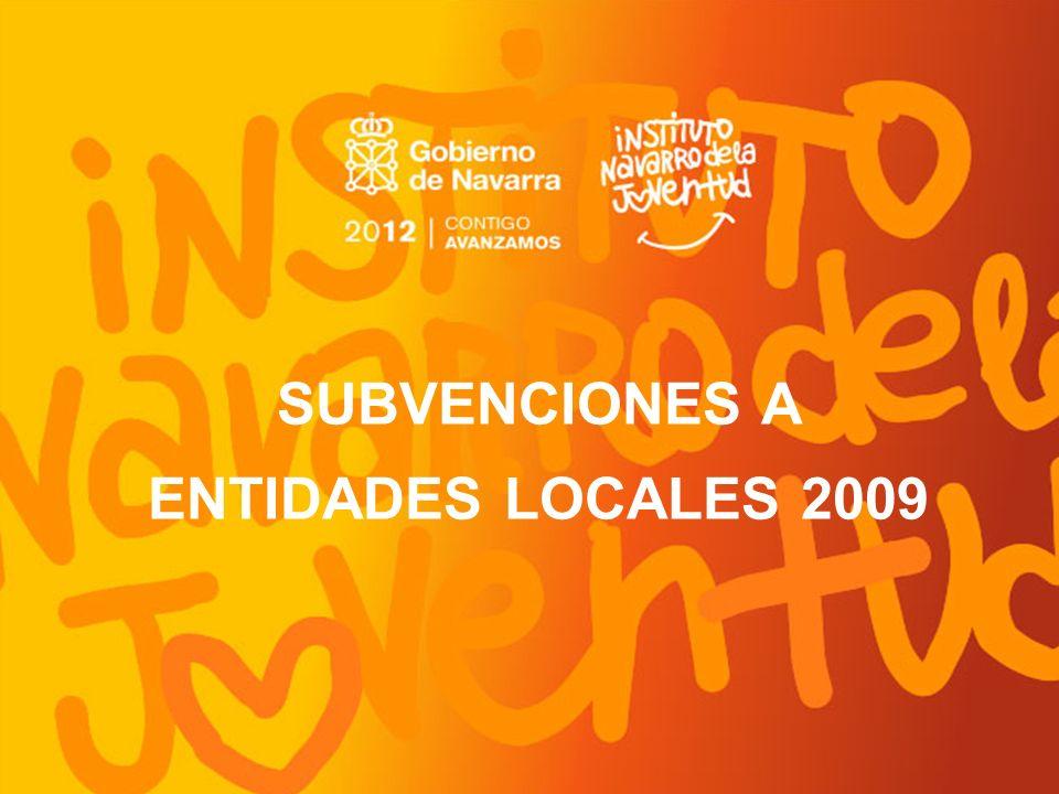 SUBVENCIONES A ENTIDADES LOCALES 2009