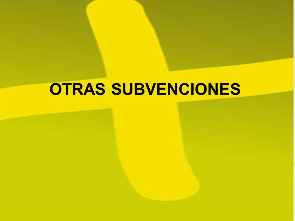 OTRAS SUBVENCIONES