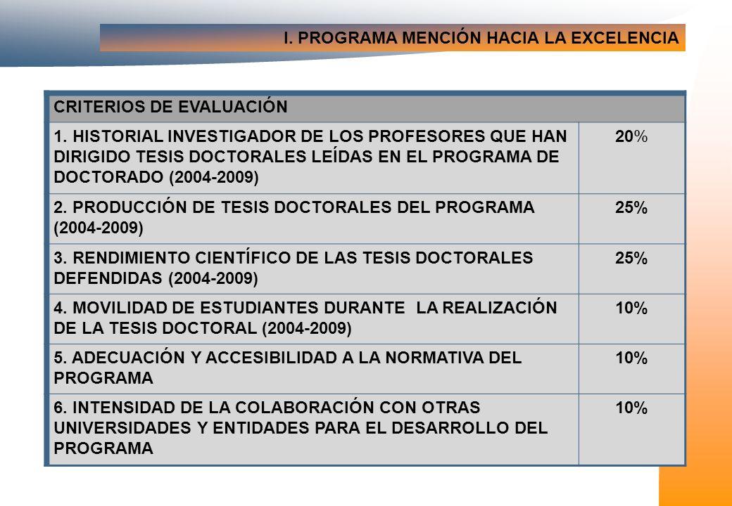II.VERIFICACIÓN DE LOS PROGRAMAS DE DOCTORADO SUGERENCIAS Y RECOMENDACIONES: 1.