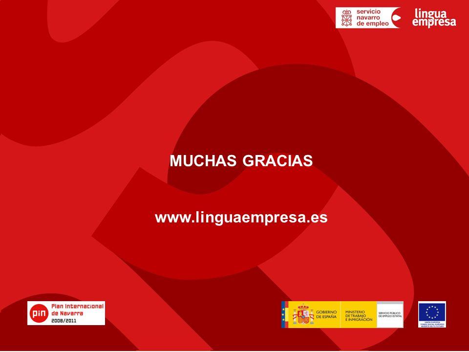MUCHAS GRACIAS www.linguaempresa.es