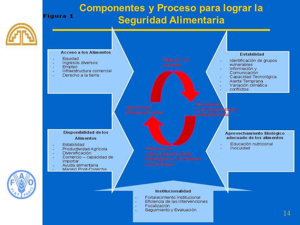 14 Componentes y Proceso para lograr la Seguridad Alimentaria