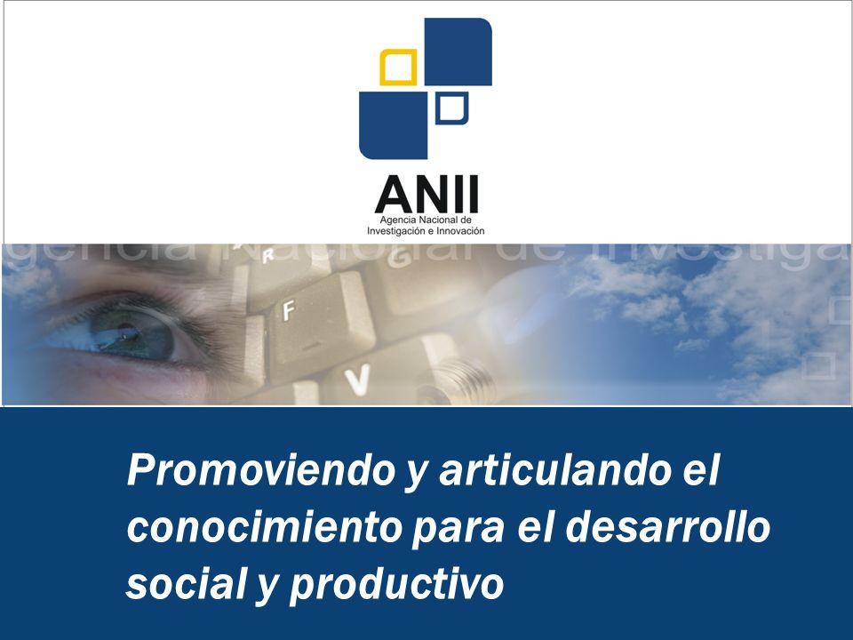 Promoviendo y articulando el conocimiento para el desarrollo social y productivo