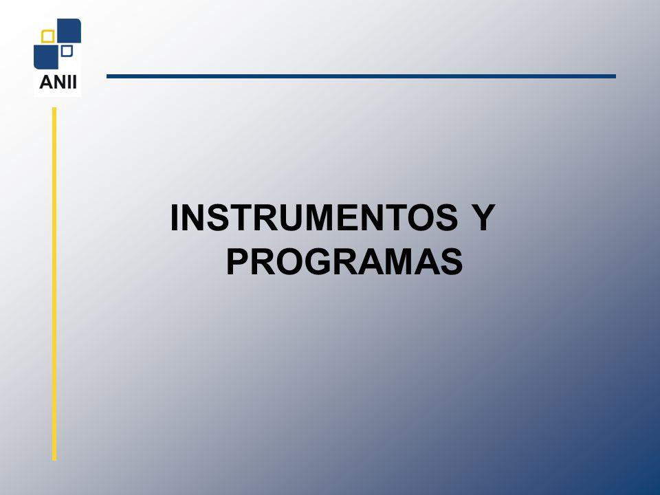 INSTRUMENTOS Y PROGRAMAS