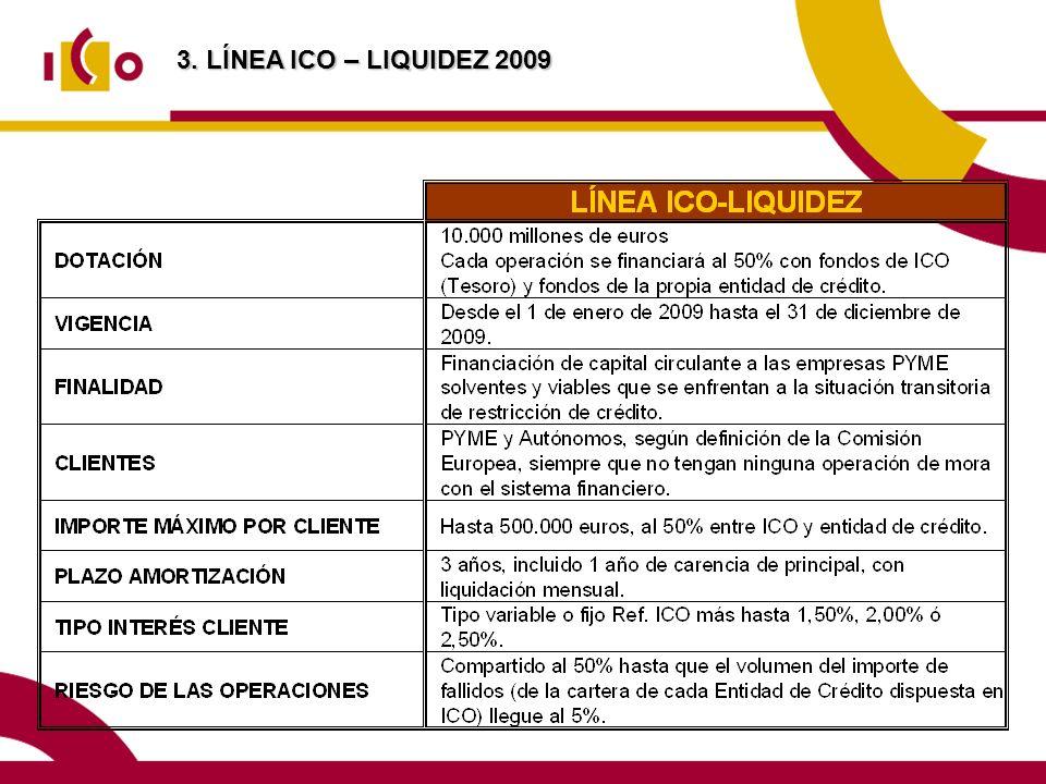 3. LÍNEA ICO – LIQUIDEZ 2009